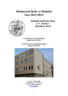 2011/2012 - Základní umělecká škola JV Stamice Havlíčkův Brod