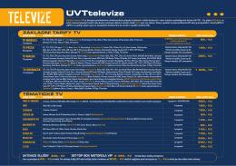 UVTtelevize - Internet UVT, sro