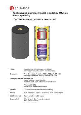 Kombinovaná akumulační nádrž (s nádobou TUV) a sdvěma