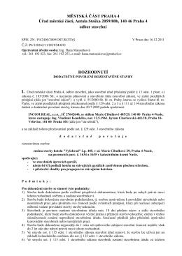 rozhodnutí o dodatečném povolení Hotel Vyšehrad.pages