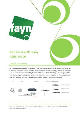 Nastavení VoIP brány ASUS VP100