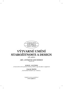 aukce výtvarné umění starožitnosti a design