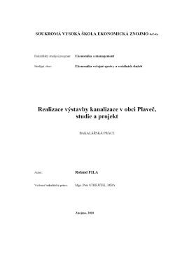 Realizace výstavby kanalizace v obci Plaveč, studie a projekt.pdf