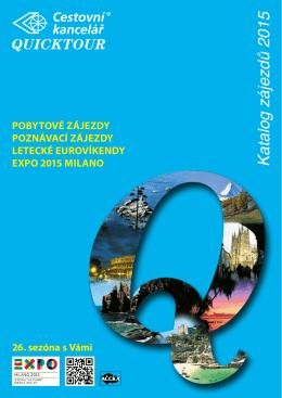 """Stáhněte si katalog """"Quicktour zájezdy 2015"""" ve formátu PDF"""