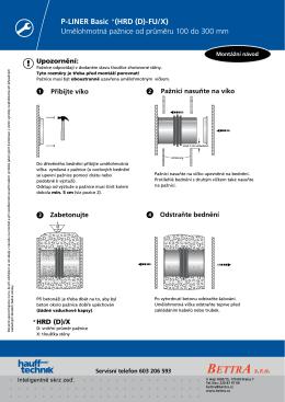 P-LINER Basic (HRD (D)-FU/X) Umělohmotná pažnice od průměru