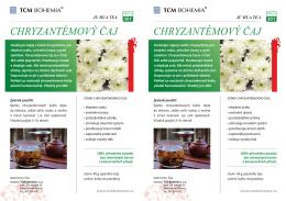 Chryzantémový čaj - TCM Bohemia shop