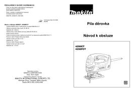 Návod k použití Přímočará pila MAKITA 4350FCT