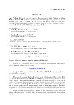 Č.j.: 152 EX 757/13 - 897 U S N E S E N Í Mgr. Predrag Kohoutek