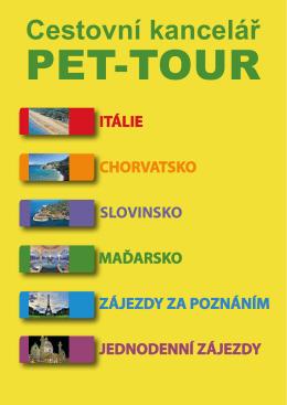 Aktuální katalog zájezdů CK - PET