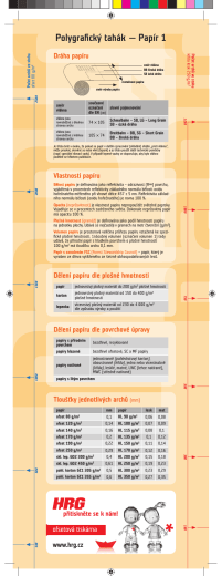 Polygrafický tahák — Papír 1 *