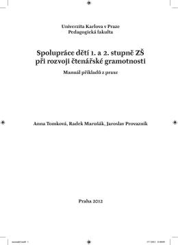 Manuál příkladů praxe - Rozvoj čtenářských kompetencí