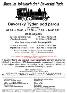 Bay Eisenstein 2011 tschechisch - Bayerischer Localbahn Verein e.V.