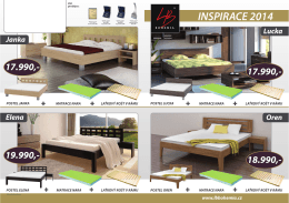 Inspirace 2015 – postele, matrace