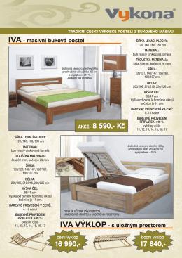 Masivní buková postel IVA