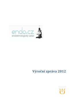 Výroční zpráva 2012 - Endokrinologický ústav
