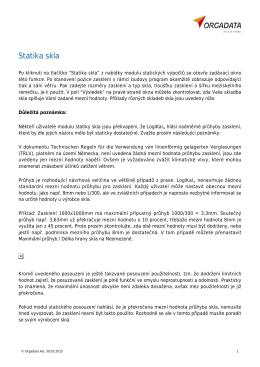 Statika skla - Orgadata AG