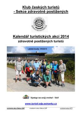 Kalendář ZdP 2014 - Sekce ZdP turistů KČT
