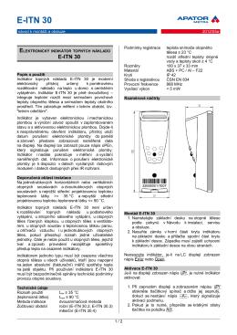 E-ITN 30 - návod - APATOR METRA sro