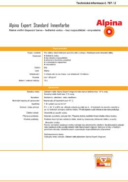 Technický list Alpina Standard