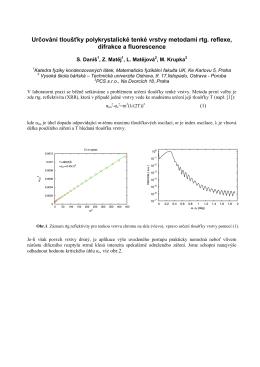Určování tloušťky tenkých vrstev pomocí XRD, XRF a XRR