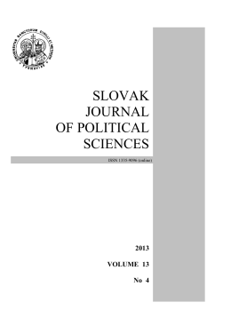 slovak journal of political sciences