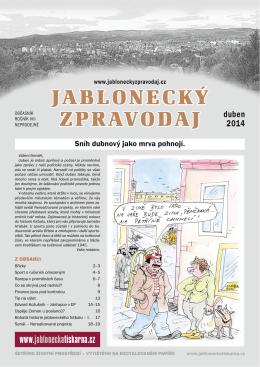 duben 2014.indd - Jablonecký zpravodaj