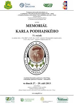 Propozice na 75. Memoriál K. Podhajského