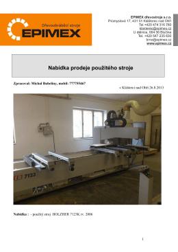pdf příloha - Epimex Dřevoobráběcí stroje