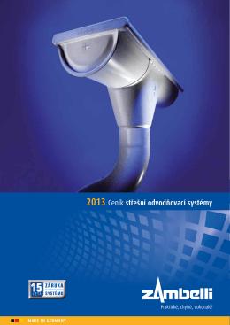 2013 Ceník střešní odvodňovací systémy