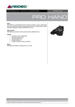TECH INFO - PRO HAND