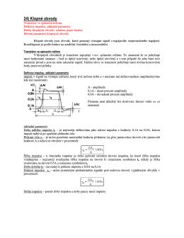 24) Klopné obvody