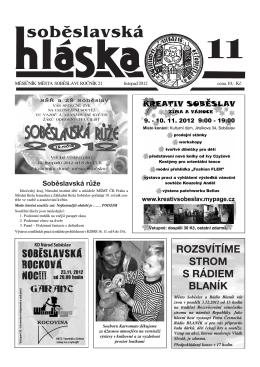 listopad 2012 - Město Soběslav