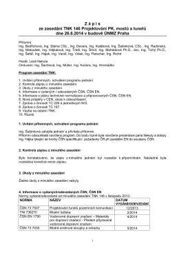 Zápis z jednání TNK 146 - červen 2014