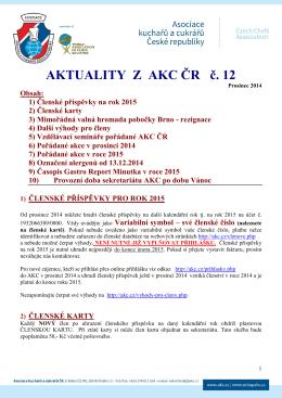 Aktuality z AKC ČR č. 12