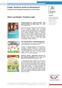 Hören und Singen / Poslech a zpěv