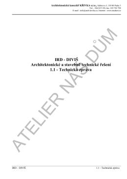 Technická zpráva - Atelier NÁŠ DŮM