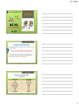 Základy chemie BCHL