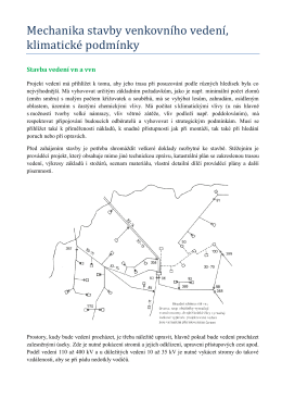 Mechanika stavby venkovního vedení, klimatické podmínky