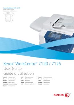 Multifunkční tiskárna WorkCentre 7120/7125 Uživatelská