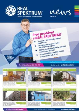 Široká nabídka dalších nemovitostí www.realspektrum.cz Náklad