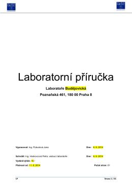 Laboratorní příručka - Laboratoře Budějovická ks