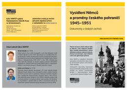 Vysídlení Němců a proměny českého pohraničí
