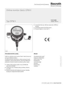 Online monitor částic OPM II Typ OPM II