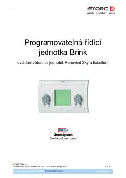 Programovatelná řídící jednotka Brink