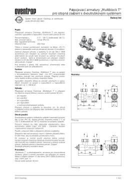 """Připojovací armatury """"Multiblock T"""" pro otopná zařízení s"""
