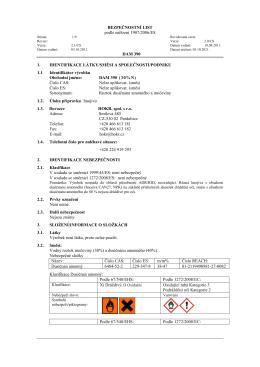 Bezpečnostní list DAM 390