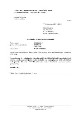 OHIM rozhodnutí č. 6281 C