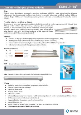 Štěrbiny pro přívod vzduchu EMM a EHA