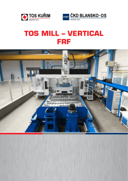 TOS MILL – VERTICAL FRF