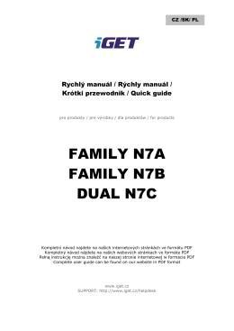 FAMILY N7A FAMILY N7B DUAL N7C